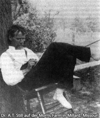 Dr. A.T. Still auf der Sol Morris Farm, Missouri, ca. 1891